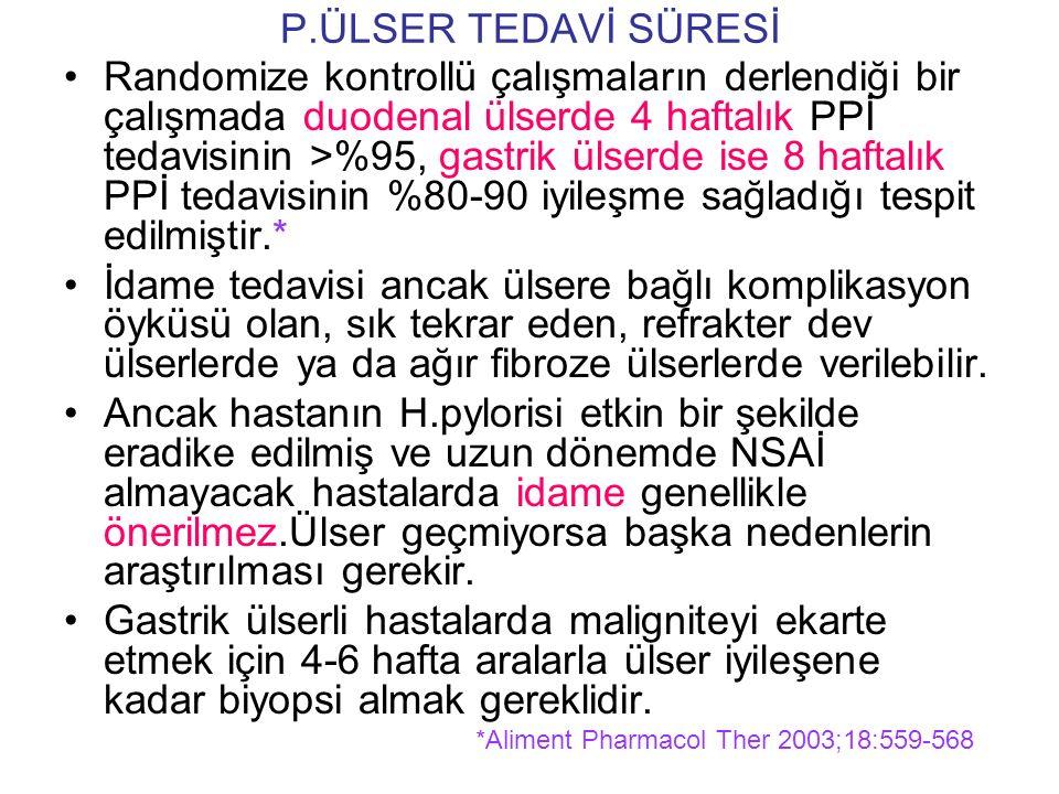 P.ÜLSER TEDAVİ SÜRESİ