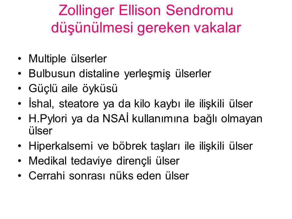 Zollinger Ellison Sendromu düşünülmesi gereken vakalar