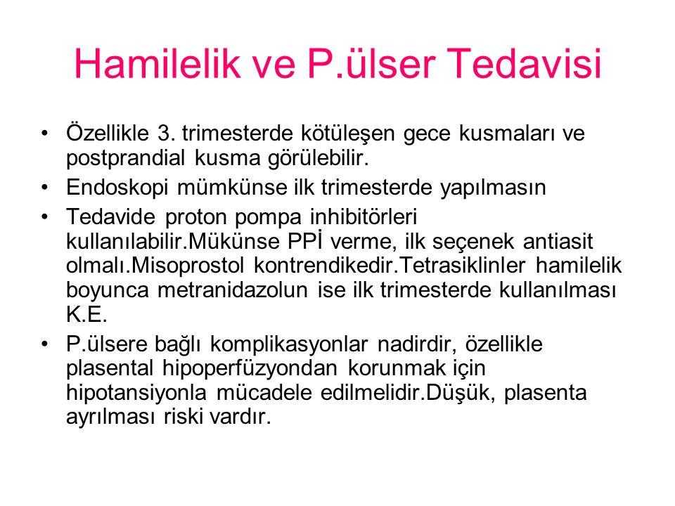Hamilelik ve P.ülser Tedavisi
