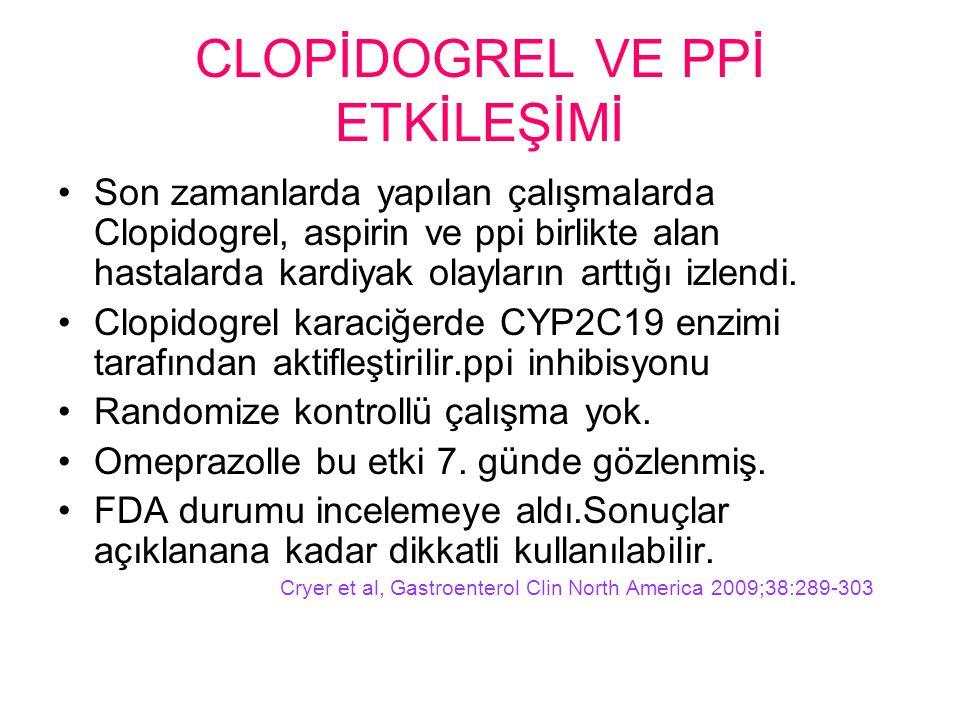 CLOPİDOGREL VE PPİ ETKİLEŞİMİ