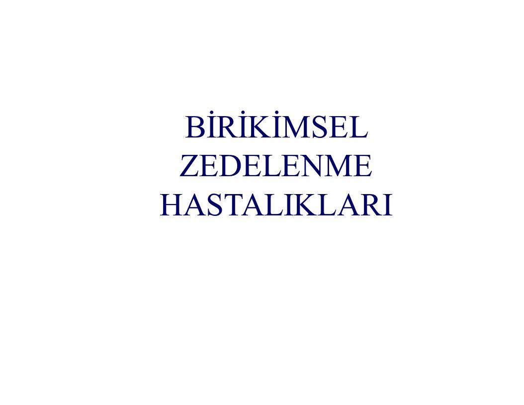 BİRİKİMSEL ZEDELENME HASTALIKLARI