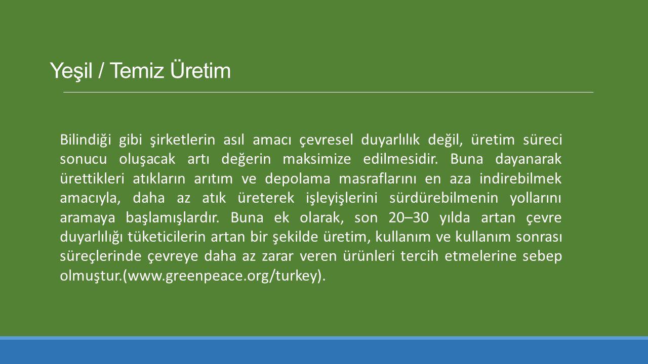 Yeşil / Temiz Üretim