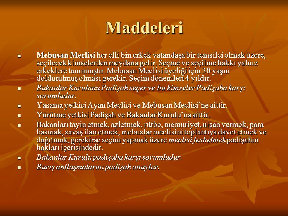 Maddeleri