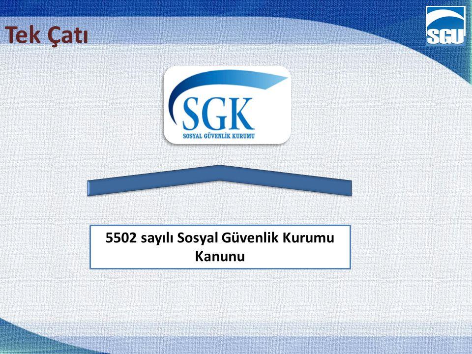 5502 sayılı Sosyal Güvenlik Kurumu Kanunu