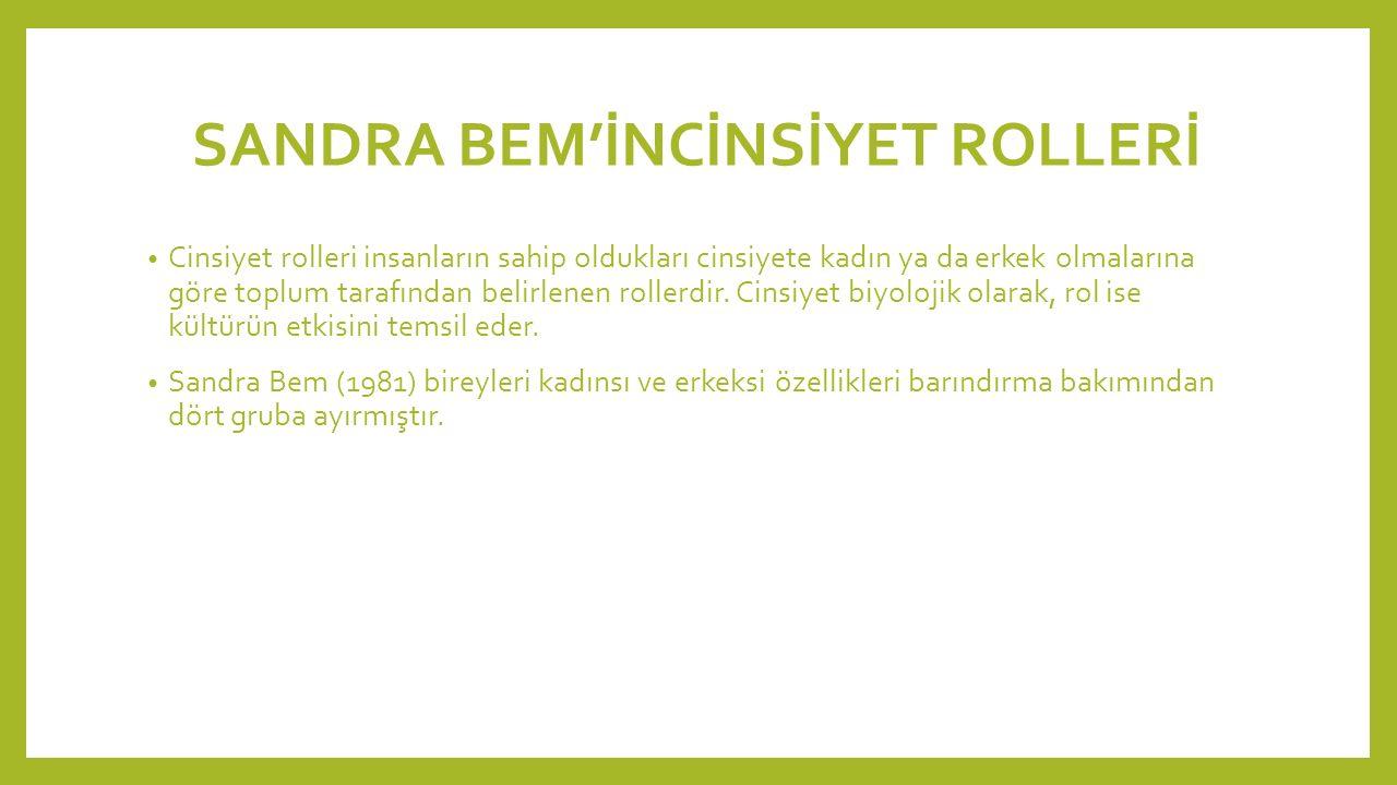 SANDRA BEM'İNCİNSİYET ROLLERİ