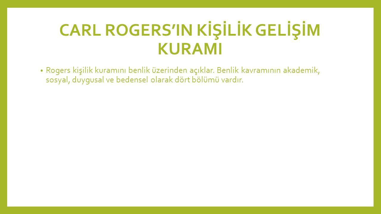 CARL ROGERS'IN KİŞİLİK GELİŞİM KURAMI