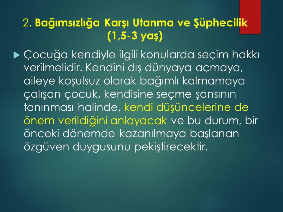 2. Bağımsızlığa Karşı Utanma ve Şüphecilik (1,5-3 yaş)