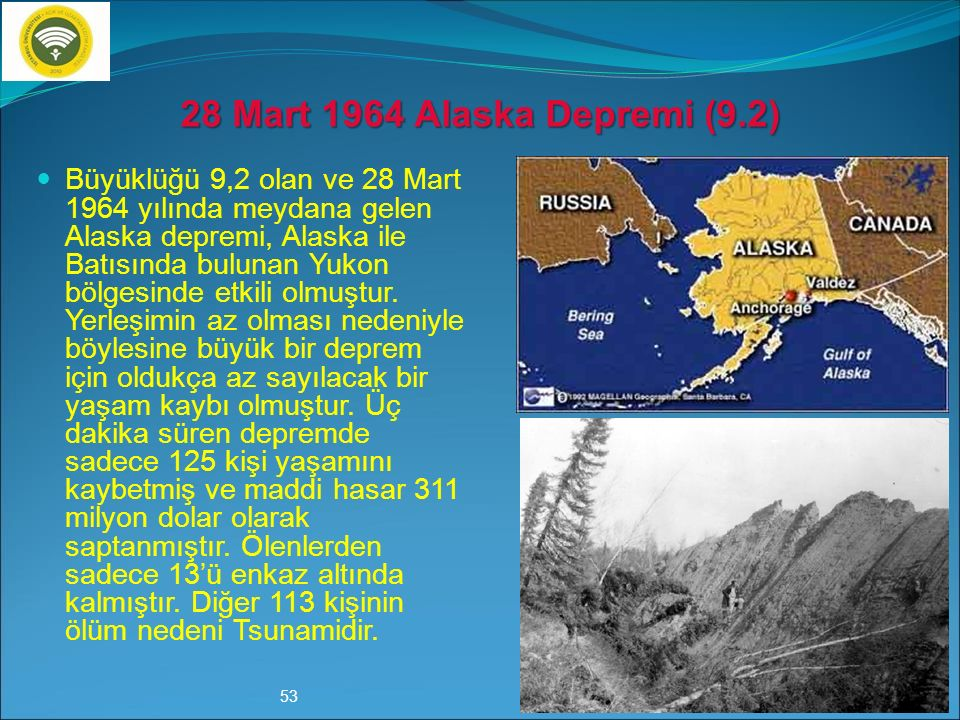 28 Mart 1964 Alaska Depremi (9.2)