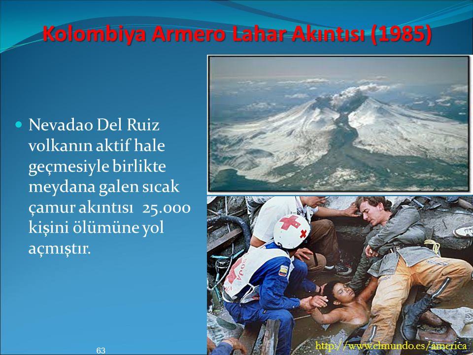 Kolombiya Armero Lahar Akıntısı (1985)