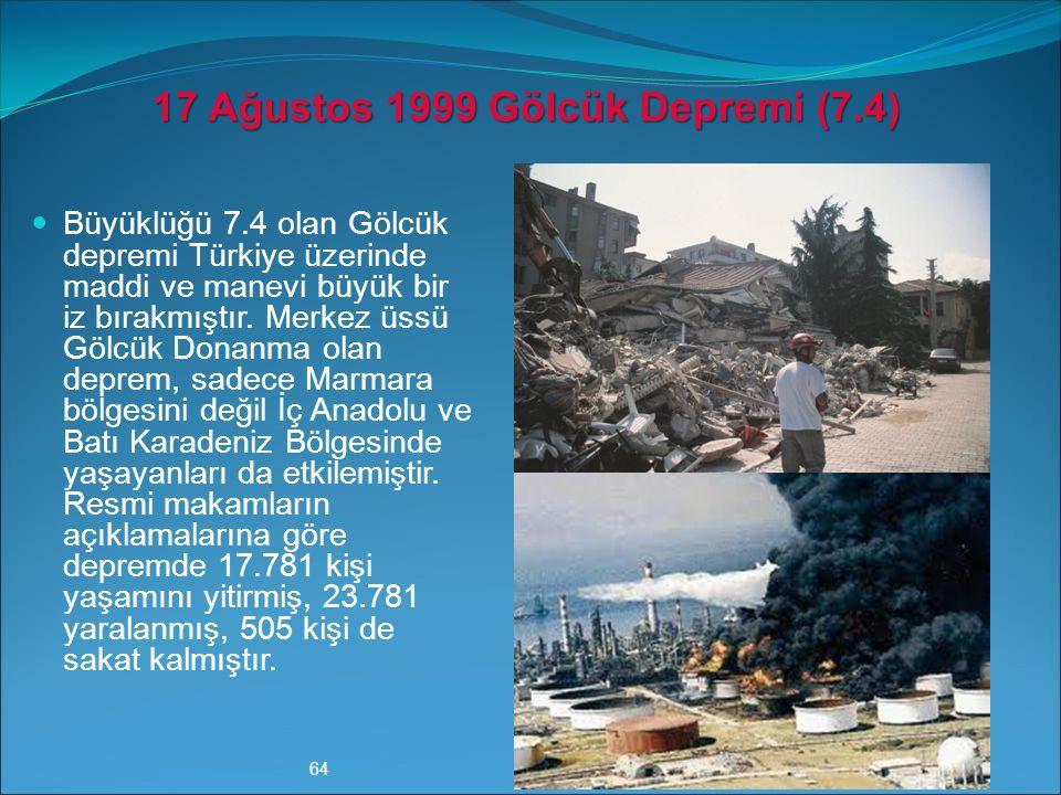 17 Ağustos 1999 Gölcük Depremi (7.4)