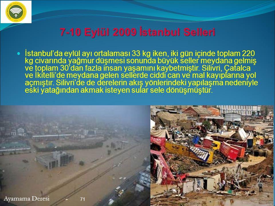 7-10 Eylül 2009 İstanbul Selleri