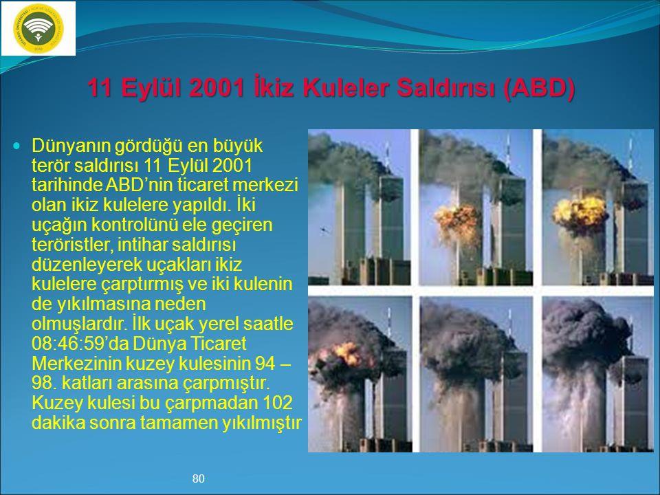 11 Eylül 2001 İkiz Kuleler Saldırısı (ABD)