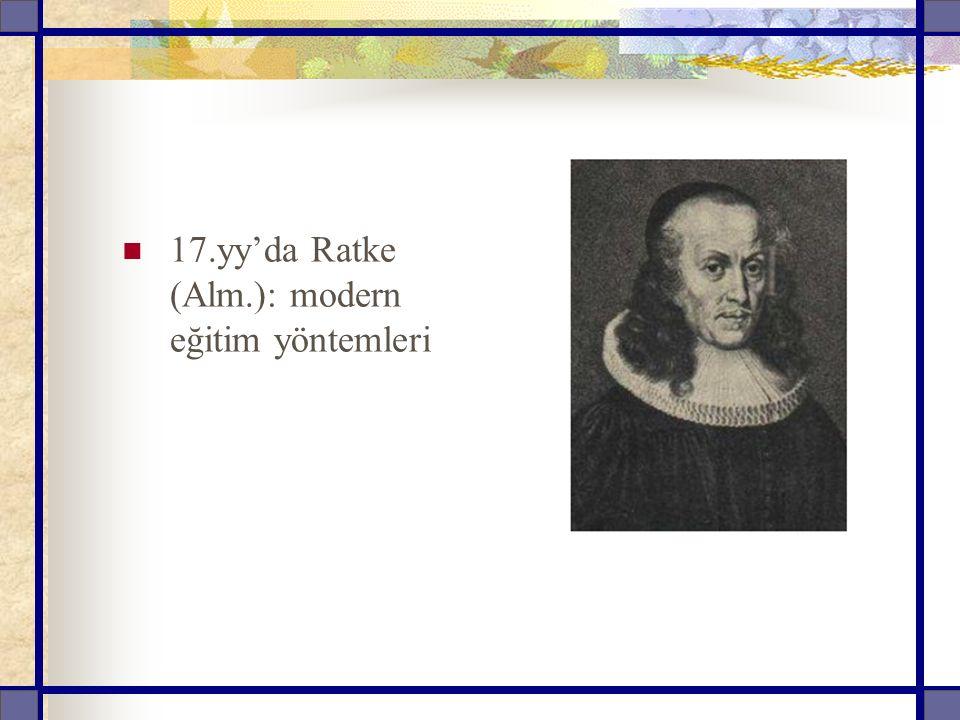 17.yy'da Ratke (Alm.): modern eğitim yöntemleri