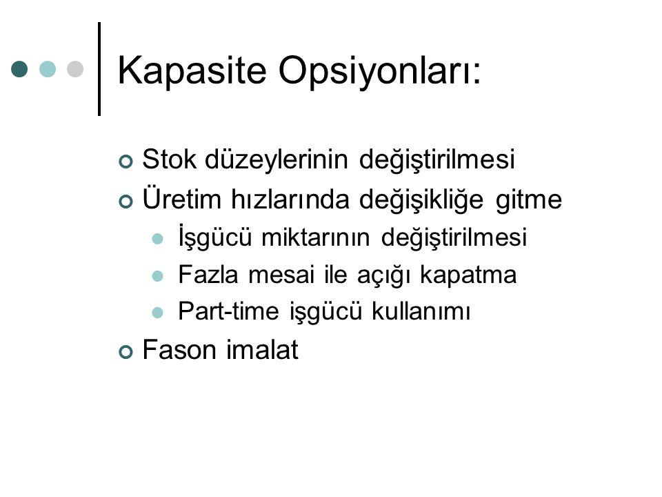 Kapasite Opsiyonları: