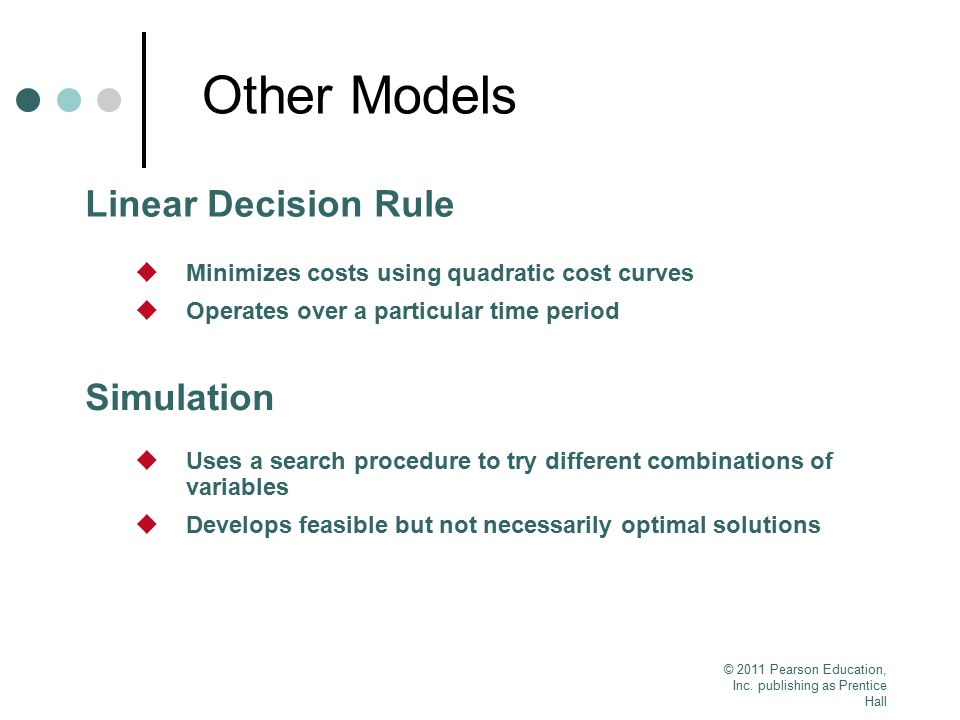 Other Models Linear Decision Rule Simulation