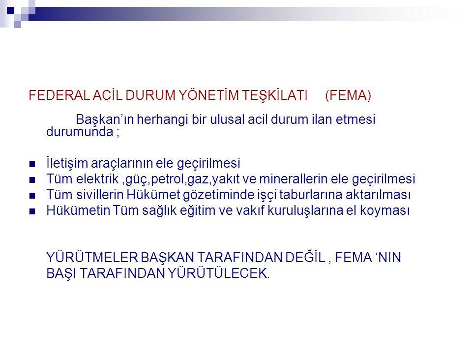 FEDERAL ACİL DURUM YÖNETİM TEŞKİLATI (FEMA)