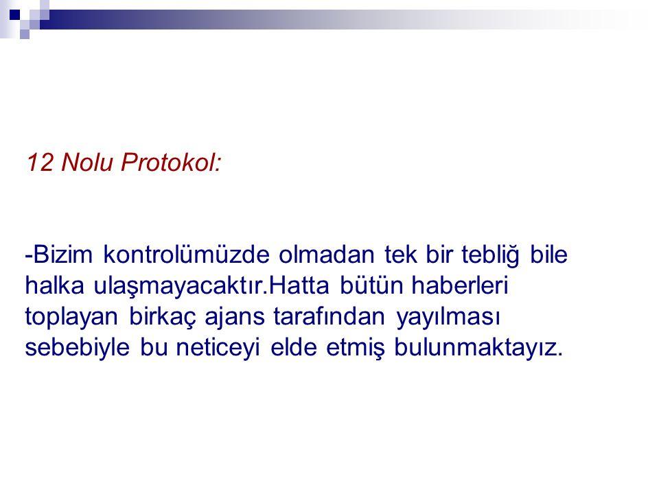 12 Nolu Protokol: