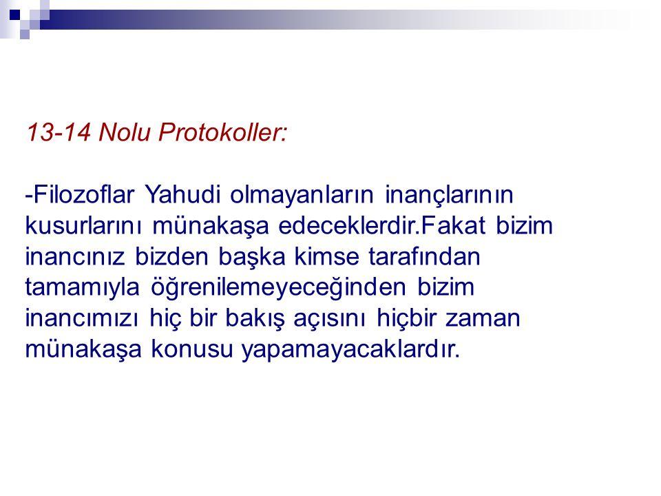 13-14 Nolu Protokoller: