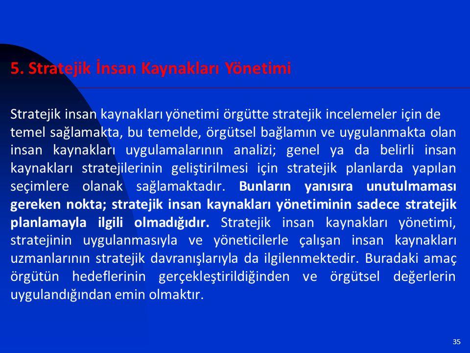 5. Stratejik İnsan Kaynakları Yönetimi