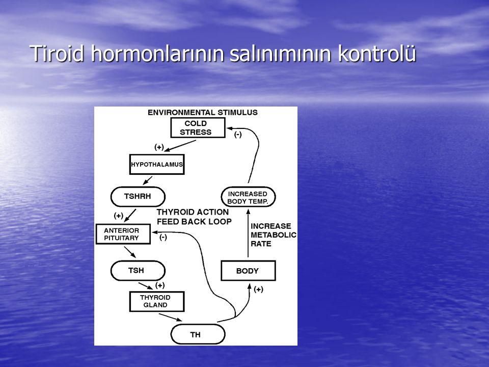 Tiroid hormonlarının salınımının kontrolü