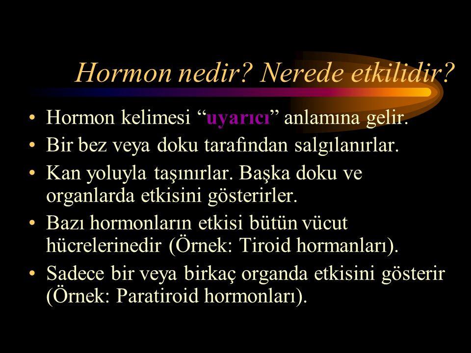 Hormon nedir Nerede etkilidir