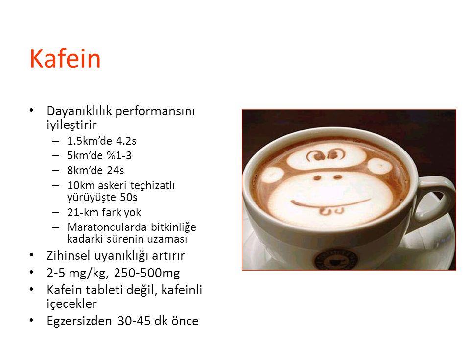 Kafein Dayanıklılık performansını iyileştirir