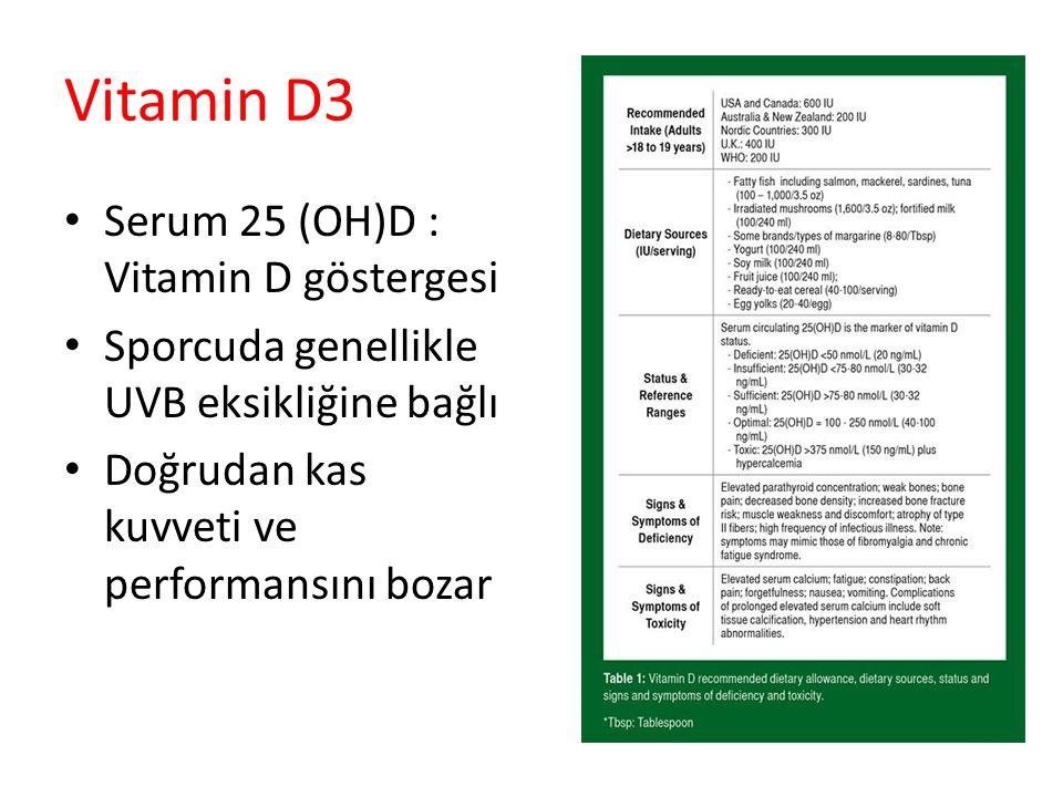Vitamin D3 Serum 25 (OH)D : Vitamin D göstergesi