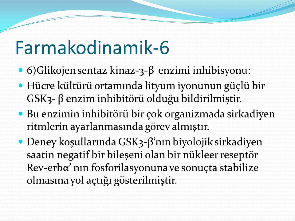 Farmakodinamik-6 6)Glikojen sentaz kinaz-3-β enzimi inhibisyonu: