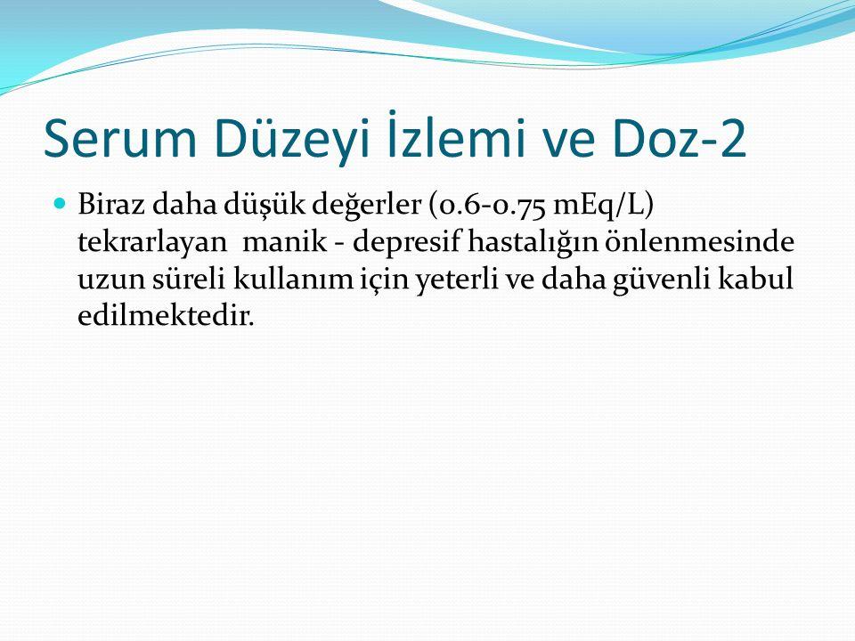 Serum Düzeyi İzlemi ve Doz-2