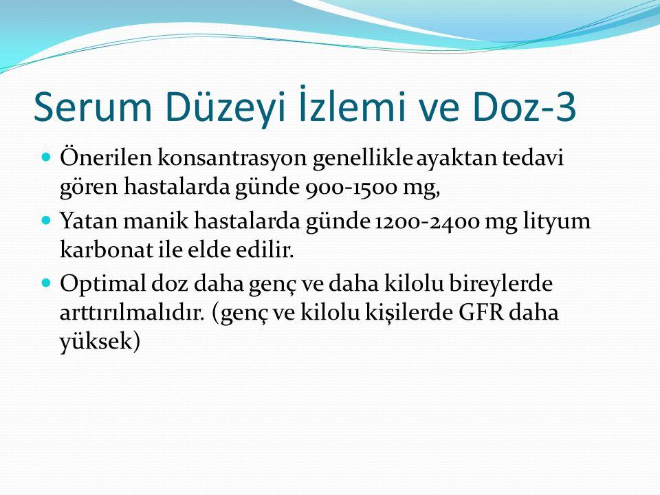 Serum Düzeyi İzlemi ve Doz-3