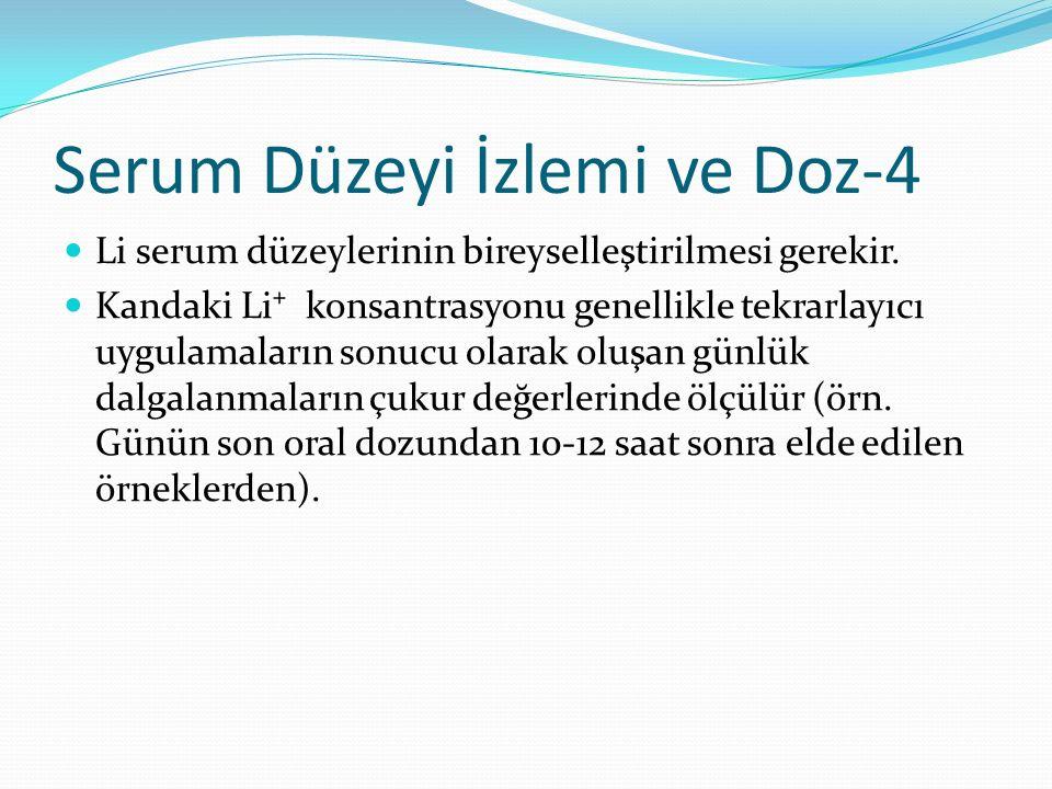 Serum Düzeyi İzlemi ve Doz-4