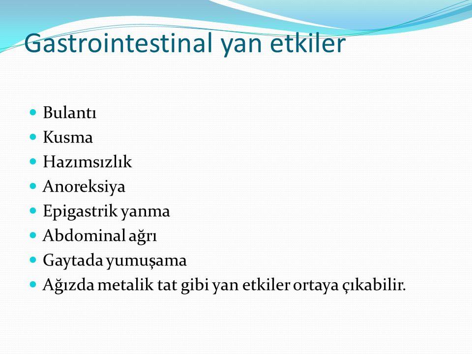 Gastrointestinal yan etkiler
