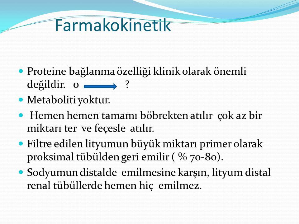 Farmakokinetik Proteine bağlanma özelliği klinik olarak önemli değildir. 0 Metaboliti yoktur.