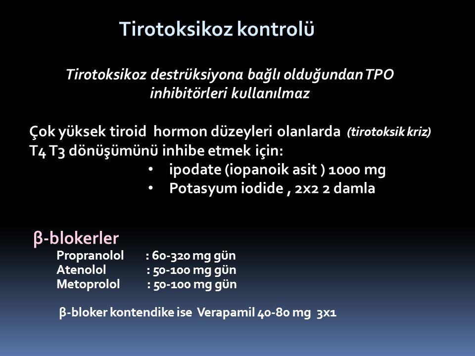 Tirotoksikoz kontrolü