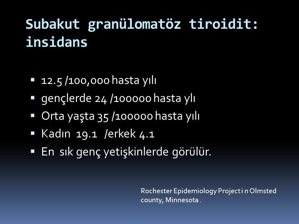 Subakut granülomatöz tiroidit: insidans