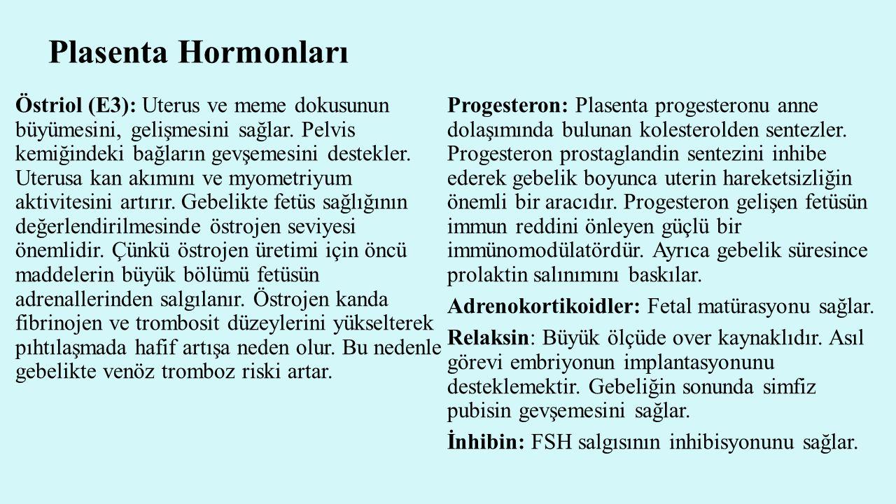 Plasenta Hormonları