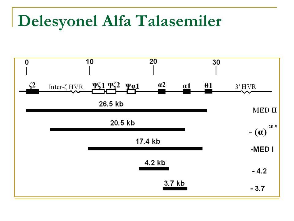 Delesyonel Alfa Talasemiler