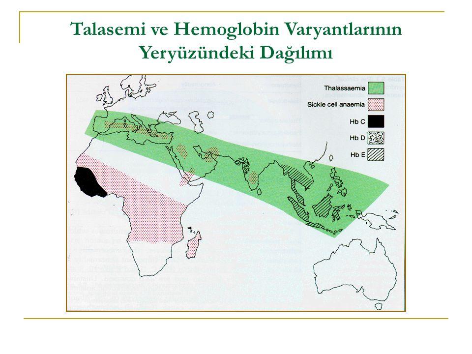 Talasemi ve Hemoglobin Varyantlarının Yeryüzündeki Dağılımı