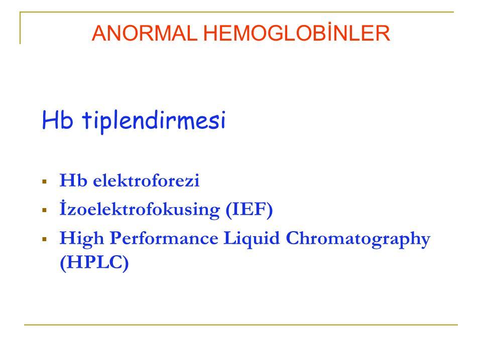 ANORMAL HEMOGLOBİNLER