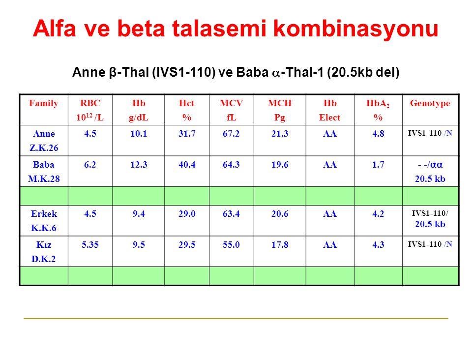 Alfa ve beta talasemi kombinasyonu