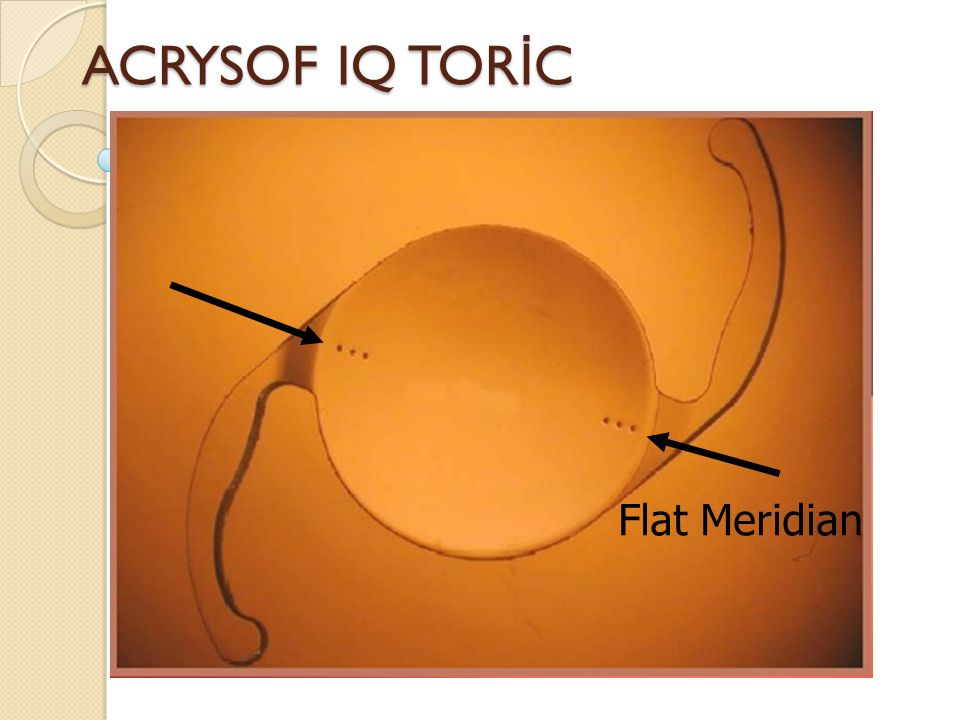 ACRYSOF IQ TORİC Flat Meridian