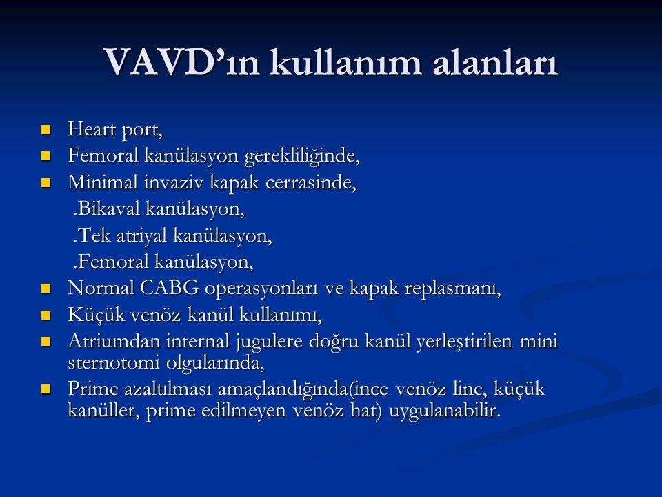 VAVD'ın kullanım alanları
