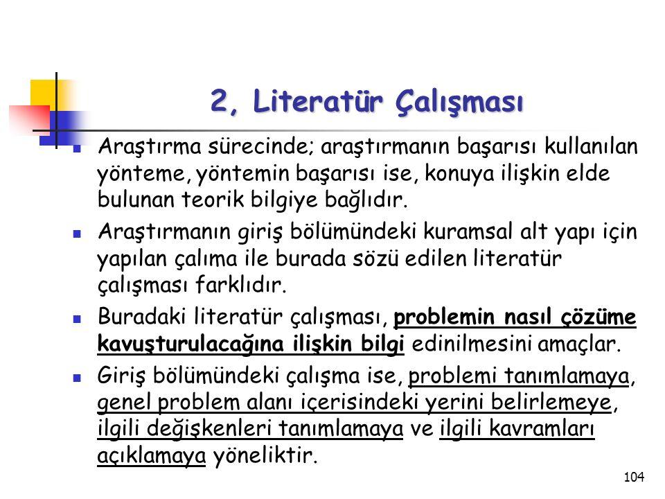 2, Literatür Çalışması