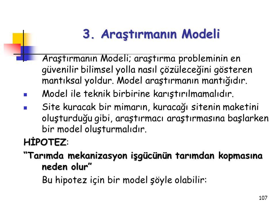 3. Araştırmanın Modeli