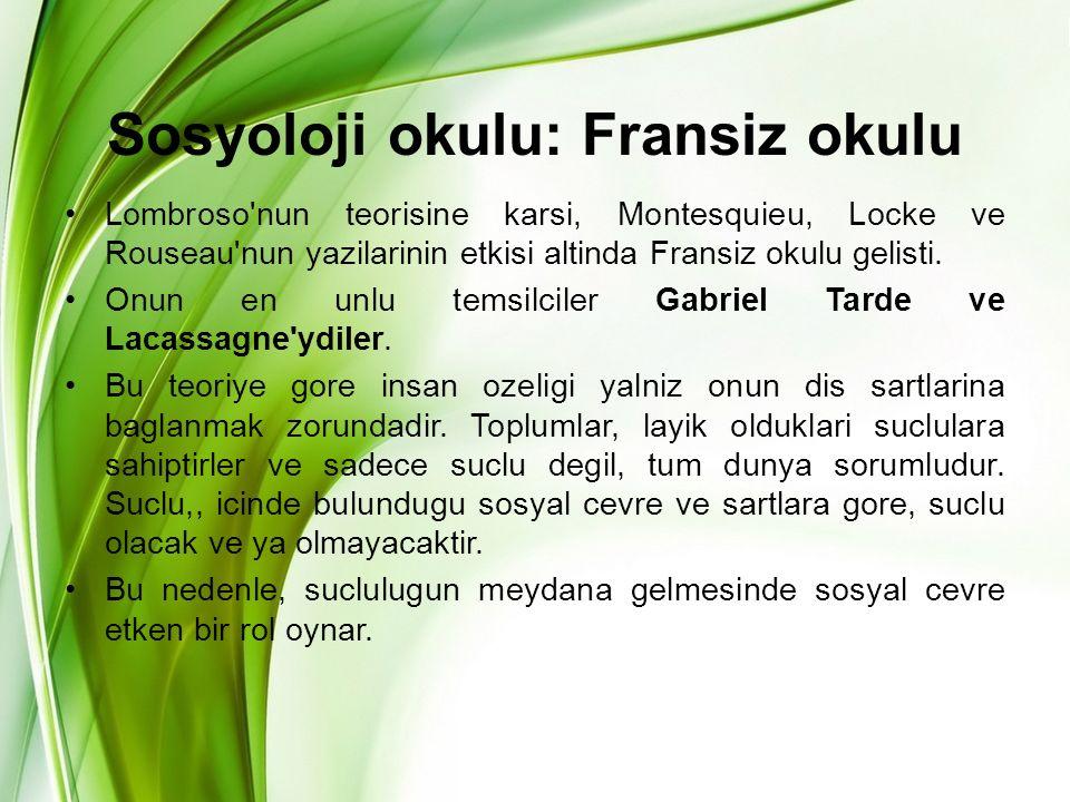 Sosyoloji okulu: Fransiz okulu