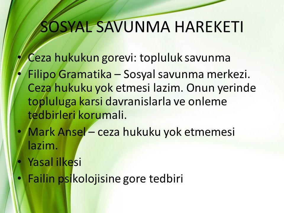 SOSYAL SAVUNMA HAREKETI