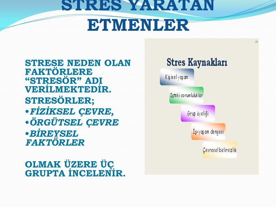 STRES YARATAN ETMENLER