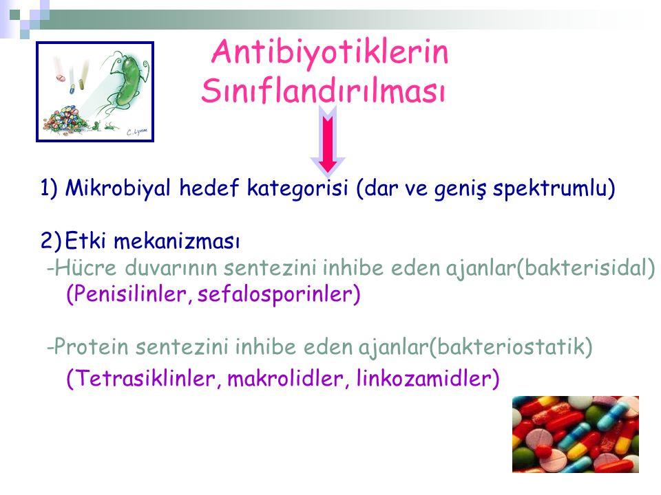 Antibiyotiklerin Sınıflandırılması