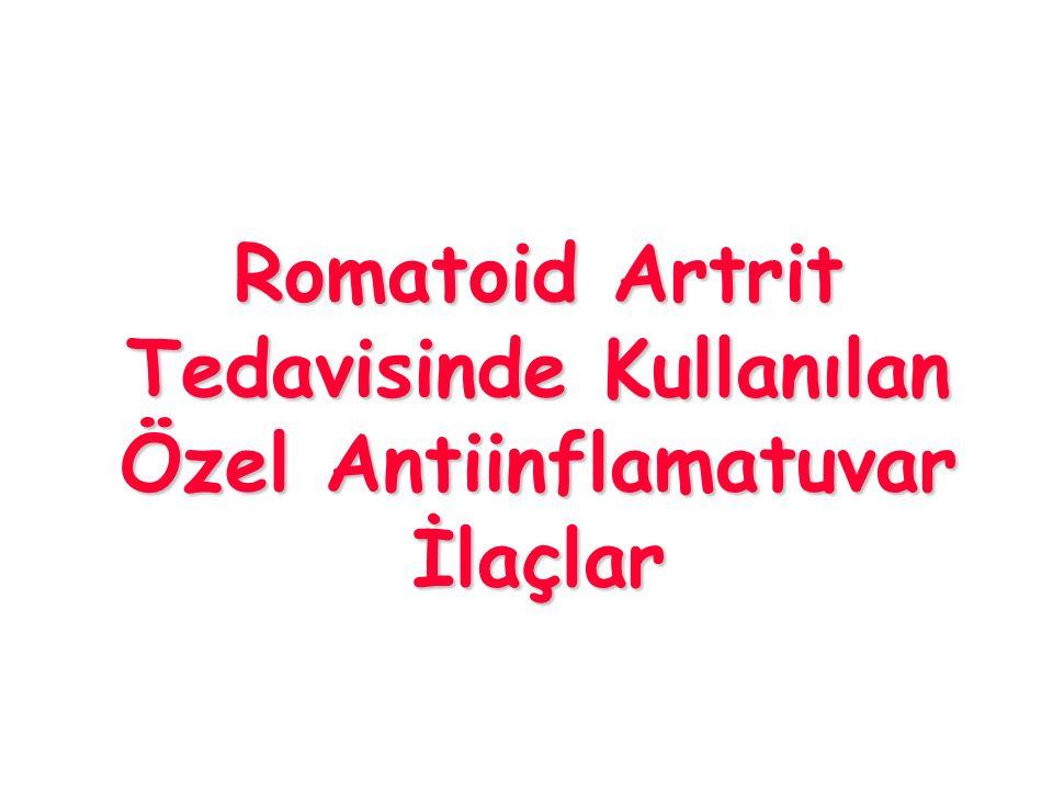 Romatoid Artrit Tedavisinde Kullanılan Özel Antiinflamatuvar İlaçlar
