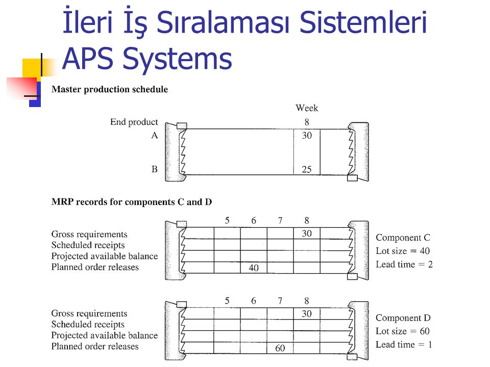 İleri İş Sıralaması Sistemleri APS Systems